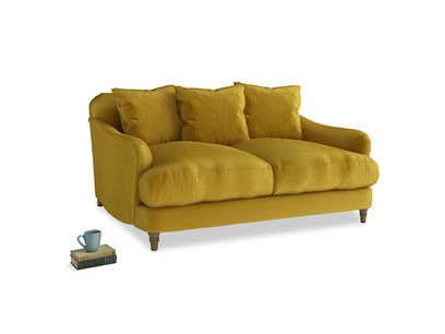Small Achilles Sofa in Burnt yellow vintage velvet
