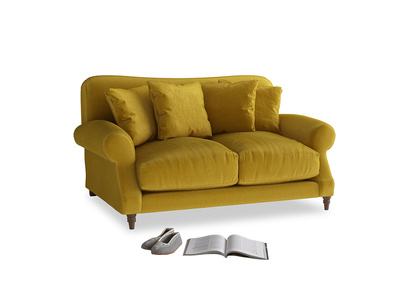Small Crumpet Sofa in Burnt yellow vintage velvet