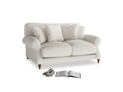 Small Crumpet Sofa in Oyster white clever linen