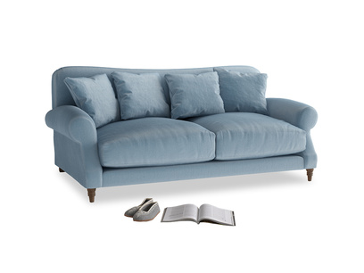 Medium Crumpet Sofa in Chalky blue vintage velvet