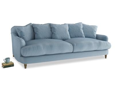 Large Achilles Sofa in Chalky blue vintage velvet