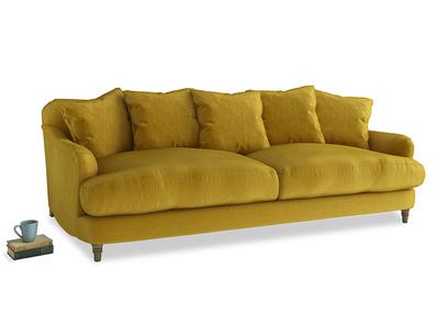 Large Achilles Sofa in Burnt yellow vintage velvet