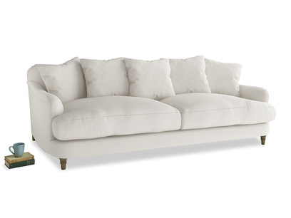 Large Achilles Sofa in Oyster white clever linen