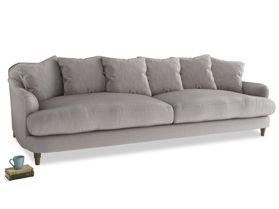 Extra large Achilles Sofa in Soothing grey vintage velvet