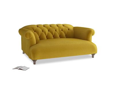 Small Dixie Sofa in Burnt yellow vintage velvet