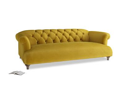 Large Dixie Sofa in Burnt yellow vintage velvet