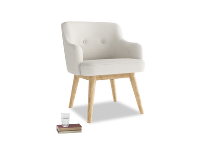 Smudge Armchair in Oyster white clever linen