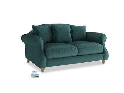 Small Sloucher Sofa in Timeless teal vintage velvet
