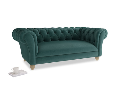 Medium Young Bean Sofa in Timeless teal vintage velvet