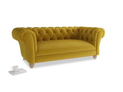 Medium Young Bean Sofa in Burnt yellow vintage velvet