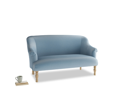 Medium Sweetie Sofa in Chalky blue vintage velvet