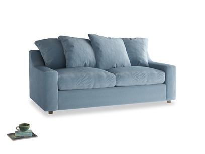 Medium Cloud Sofa Bed in Chalky blue vintage velvet