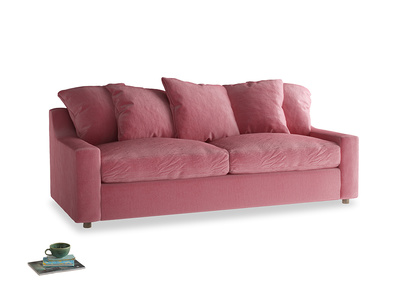 Large Cloud Sofa Bed in Blushed pink vintage velvet