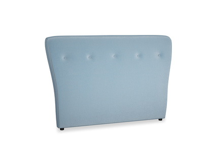 Double Smoke Headboard in Chalky blue vintage velvet