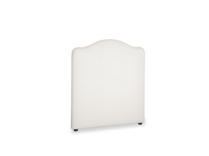 Single Luna Headboard in Oyster white clever linen