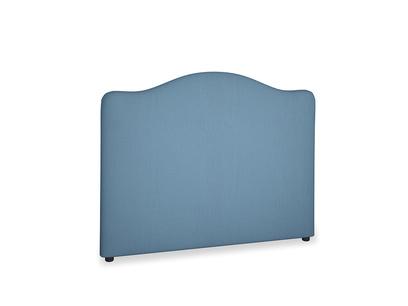 Double Luna Headboard in Easy blue clever linen