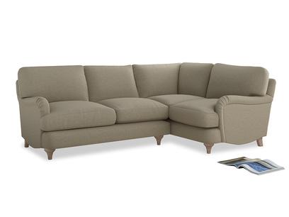 Large Right Hand Jonesy Corner Sofa in Jute vintage linen
