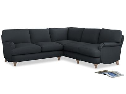 Even Sided Jonesy Corner Sofa in Lava grey clever linen