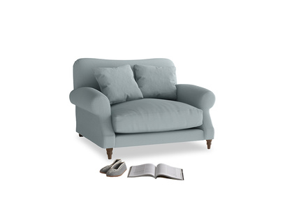 Crumpet Love seat in Quail's egg clever linen