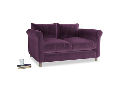Small Weekender Sofa in Grape clever velvet