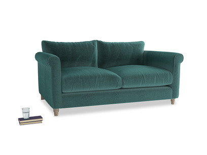 Medium Weekender Sofa in Real Teal clever velvet