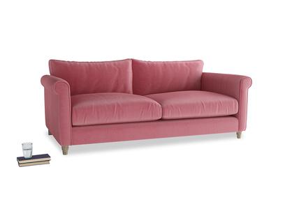 Large Weekender Sofa in Blushed pink vintage velvet