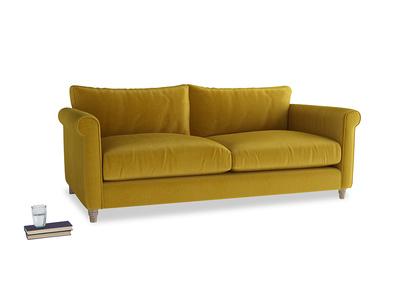 Large Weekender Sofa in Burnt yellow vintage velvet