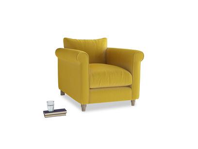 Weekender Armchair in Bumblebee clever velvet