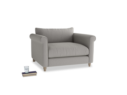 Weekender Love seat in Wolf brushed cotton