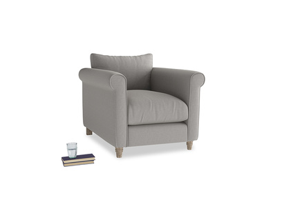 Weekender Armchair in Wolf brushed cotton