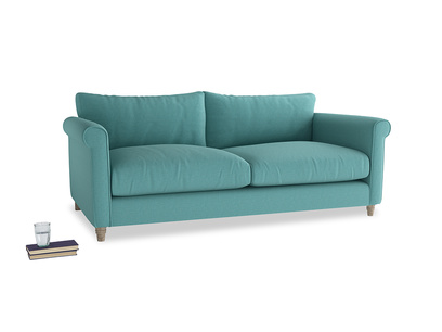 Large Weekender Sofa in Peacock brushed cotton