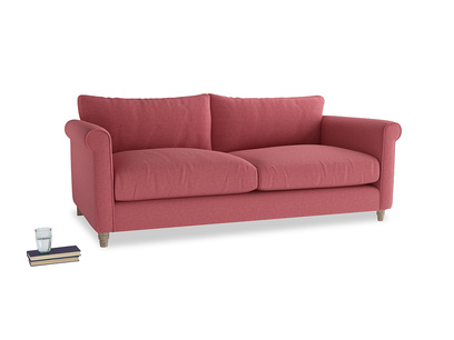 Large Weekender Sofa in Raspberry brushed cotton