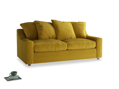 Medium Cloud Sofa Bed in Burnt yellow vintage velvet