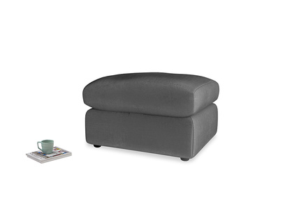Chatnap Storage Footstool in Scuttle grey vintage velvet