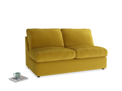 Chatnap Sofa Bed in Burnt yellow vintage velvet