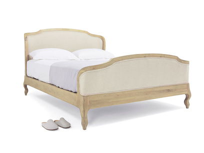 Kingsize Joëlle Bed in Natural linen