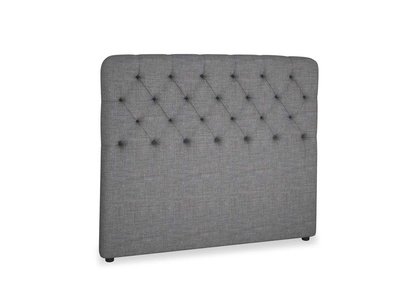 Double Billow Headboard in Strong grey clever woolly fabric