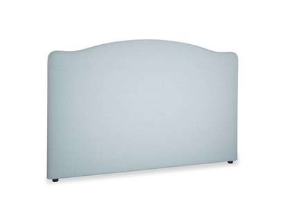 Superking Luna Headboard in Soothing blue washed cotton linen