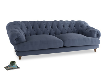 Extra large Bagsie Sofa in Breton blue clever cotton