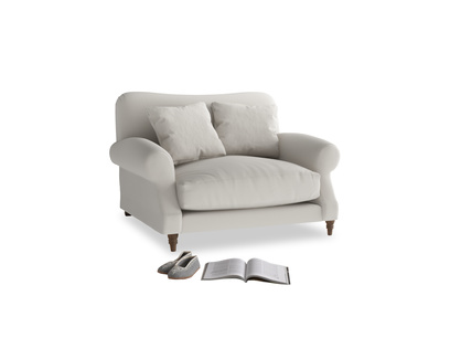 Crumpet Love seat in Moondust grey clever cotton