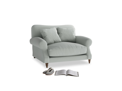Crumpet Love seat in Eggshell grey clever cotton