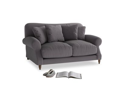 Small Crumpet Sofa in Graphite grey clever cotton
