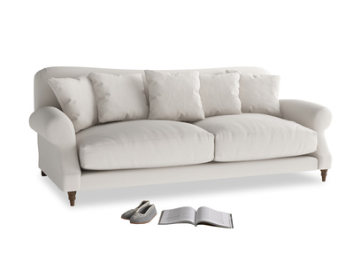 Large Crumpet Sofa in Chalk clever cotton