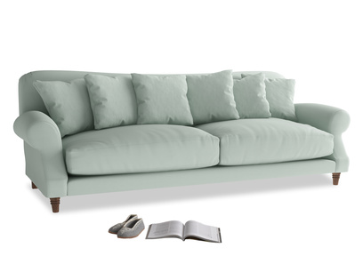 Extra large Crumpet Sofa in Sea surf clever cotton