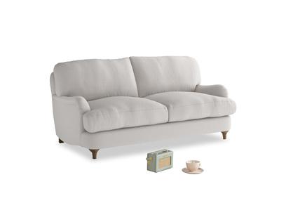 Small Jonesy Sofa in Lunar Grey washed cotton linen