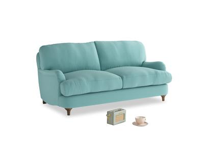 Small Jonesy Sofa in Kingfisher clever cotton