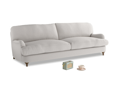 Large Jonesy Sofa in Lunar Grey washed cotton linen