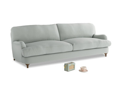 Large Jonesy Sofa in Eggshell grey clever cotton