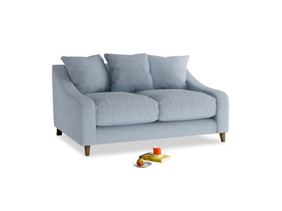 Small Oscar Sofa in Frost clever woolly fabric