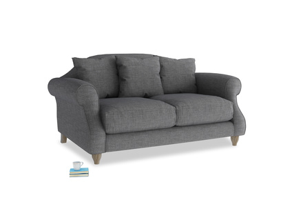 Small Sloucher Sofa in Strong grey clever woolly fabric